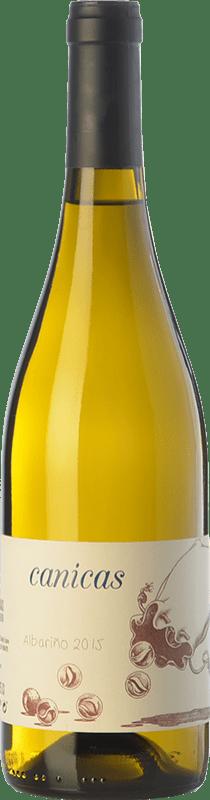 11,95 € Envio grátis | Vinho branco A Tresbolillo Canicas D.O. Rías Baixas Galiza Espanha Albariño Garrafa 75 cl