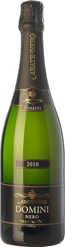 36,95 € Free Shipping | White sparkling Abate Nero Domini Nero Brut 2010 D.O.C. Trento Trentino Italy Pinot Black Bottle 75 cl