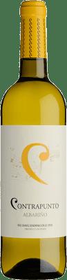 9,95 € Envío gratis | Vino blanco Agro de Bazán Contrapunto D.O. Rías Baixas Galicia España Albariño Botella 75 cl
