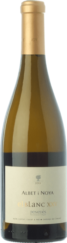 26,95 € Envío gratis | Vino blanco Albet i Noya El Blanc XXV Crianza D.O. Penedès Cataluña España Viognier, Marina Rion, Vidal Botella 75 cl