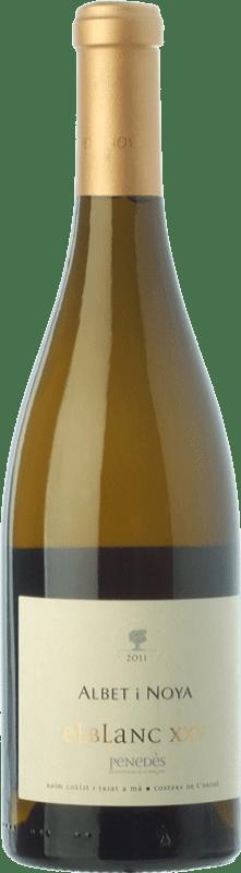 29,95 € Free Shipping | White wine Albet i Noya El Blanc XXV Crianza D.O. Penedès Catalonia Spain Viognier, Marina Rion, Vidal Bottle 75 cl