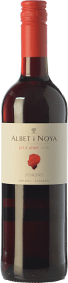 6,95 € Free Shipping | Red wine Albet i Noya Petit Albet Negre Joven D.O. Penedès Catalonia Spain Tempranillo, Grenache, Cabernet Sauvignon Bottle 75 cl. | Thousands of wine lovers trust us to get the best price guarantee, free shipping always and hassle-free shopping and returns.