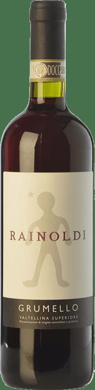 19,95 € Envío gratis | Vino tinto Rainoldi Grumello D.O.C.G. Valtellina Superiore Lombardia Italia Nebbiolo Botella 75 cl