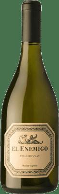 22,95 € Envío gratis | Vino blanco Aleanna El Enemigo Crianza I.G. Mendoza Mendoza Argentina Chardonnay Botella 75 cl