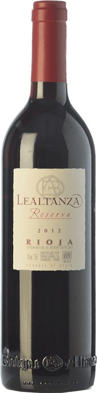 11,95 € Envío gratis | Vino tinto Altanza Lealtanza Reserva D.O.Ca. Rioja La Rioja España Tempranillo Botella 75 cl