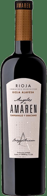 18,95 € Envío gratis | Vino tinto Amaren Ángeles Crianza D.O.Ca. Rioja La Rioja España Tempranillo, Graciano Botella 75 cl