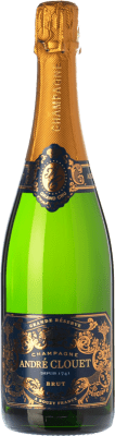 28,95 € Free Shipping | White sparkling André Clouet Grande Réserve Brut Gran Reserva A.O.C. Champagne Champagne France Pinot Black Bottle 75 cl | Thousands of wine lovers trust us to get the best price guarantee, free shipping always and hassle-free shopping and returns.