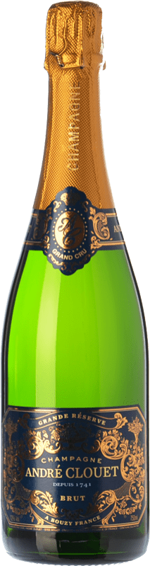 31,95 € Free Shipping | White sparkling André Clouet Grande Réserve Brut Gran Reserva A.O.C. Champagne Champagne France Pinot Black Bottle 75 cl