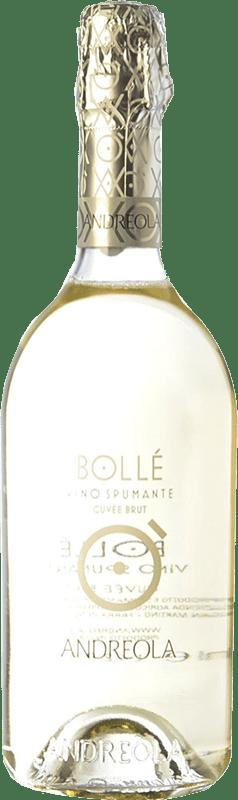 8,95 € Free Shipping | White sparkling Andreola Bollé Brut D.O.C. Prosecco Veneto Italy Glera Bottle 75 cl