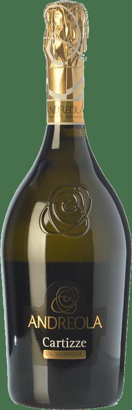 27,95 € Free Shipping | White sparkling Andreola Superiore di Cartizze D.O.C.G. Prosecco di Conegliano-Valdobbiadene Treviso Italy Glera Bottle 75 cl