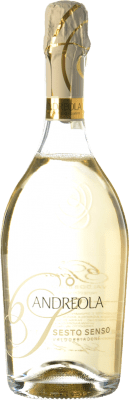 15,95 € Free Shipping | White sparkling Andreola Superiore Sesto Senso Dry D.O.C.G. Prosecco di Conegliano-Valdobbiadene Treviso Italy Glera, Bianchetta, Perera Bottle 75 cl | Thousands of wine lovers trust us to get the best price guarantee, free shipping always and hassle-free shopping and returns.