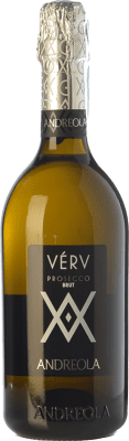 9,95 € Free Shipping | White sparkling Andreola Verv Brut D.O.C. Prosecco Veneto Italy Glera Bottle 75 cl. | Thousands of wine lovers trust us to get the best price guarantee, free shipping always and hassle-free shopping and returns.