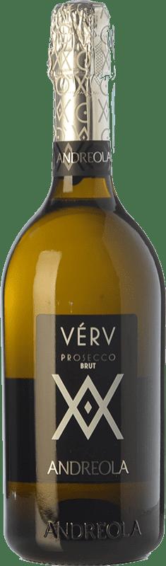 12,95 € Free Shipping | White sparkling Andreola Verv Brut D.O.C. Prosecco Veneto Italy Glera Bottle 75 cl