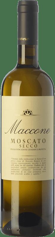 13,95 € Envío gratis | Vino blanco Angiuli Moscato Secco Maccone I.G.T. Puglia Puglia Italia Moscatel Blanco Botella 75 cl