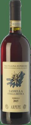 41,95 € Free Shipping | Red wine Ar.Pe.Pe. Sassella Stella Retica D.O.C.G. Valtellina Superiore Lombardia Italy Nebbiolo Bottle 75 cl