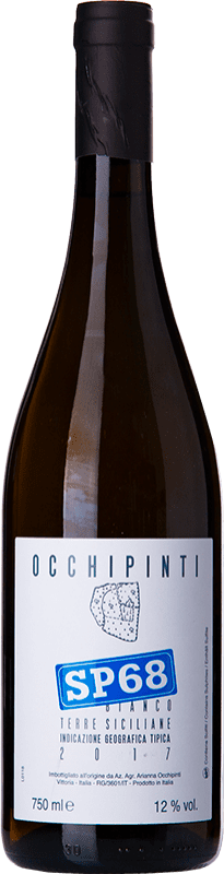 18,95 € Free Shipping | White wine Arianna Occhipinti SP68 Bianco I.G.T. Terre Siciliane Sicily Italy Muscat of Alexandria, Albanello Bottle 75 cl