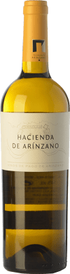 16,95 € Free Shipping | White wine Arínzano Hacienda Crianza D.O.P. Vino de Pago de Arínzano Navarre Spain Chardonnay Bottle 75 cl