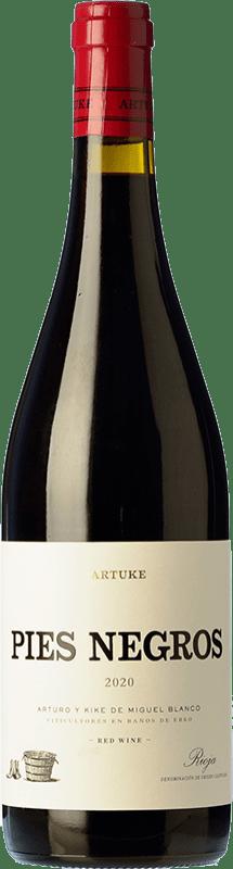 14,95 € Free Shipping | Red wine Artuke Pies Negros Crianza D.O.Ca. Rioja The Rioja Spain Tempranillo, Graciano Bottle 75 cl