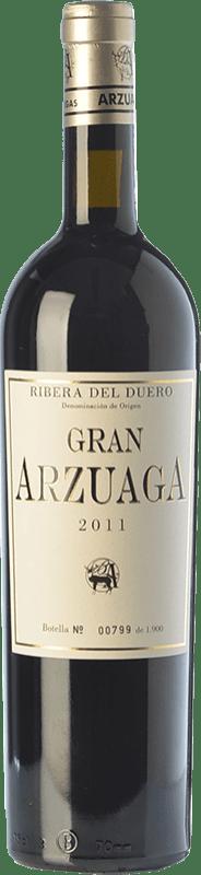 145,95 € Envío gratis | Vino tinto Arzuaga Gran Arzuaga Crianza 2011 D.O. Ribera del Duero Castilla y León España Tempranillo, Cabernet Sauvignon, Albillo Botella 75 cl