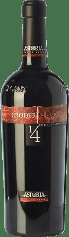 24,95 € Free Shipping | Red wine Astoria Croder D.O.C. Colli di Conegliano Veneto Italy Merlot, Cabernet Sauvignon, Cabernet Franc, Marzemino Bottle 75 cl