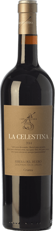 8,95 € Free Shipping | Red wine Atalayas de Golbán La Celestina Crianza D.O. Ribera del Duero Castilla y León Spain Tempranillo Bottle 75 cl