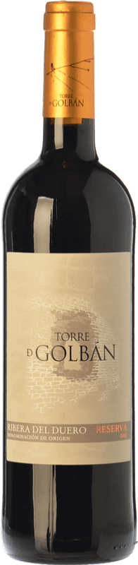 13,95 € Envoi gratuit | Vin rouge Atalayas de Golbán Torre de Golbán Reserva D.O. Ribera del Duero Castille et Leon Espagne Tempranillo Bouteille 75 cl
