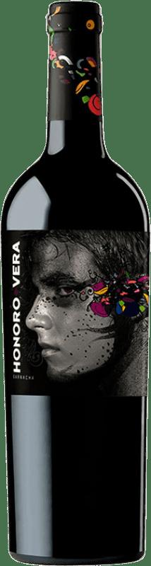 5,95 € Free Shipping | Red wine Ateca Honoro Vera Joven D.O. Calatayud Aragon Spain Grenache Bottle 75 cl