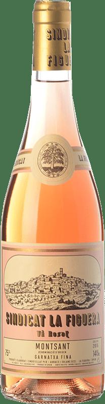 7,95 € Envío gratis | Vino rosado Aubacs i Solans Sindicat la Figuera Rosat Joven D.O. Montsant Cataluña España Garnacha Botella 75 cl
