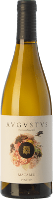 13,95 € Free Shipping | White wine Augustus Microvinificacions Macabeu Crianza D.O. Penedès Catalonia Spain Macabeo Bottle 75 cl