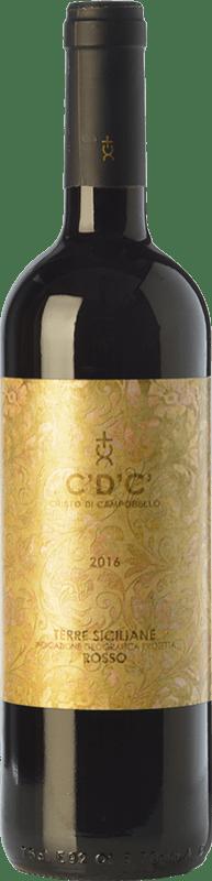 9,95 € Free Shipping | Red wine Cristo di Campobello C'D'C' Rosso I.G.T. Terre Siciliane Sicily Italy Merlot, Syrah, Cabernet Sauvignon, Nero d'Avola Bottle 75 cl
