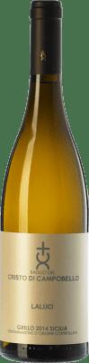 16,95 € Free Shipping | White wine Cristo di Campobello Lalùci I.G.T. Terre Siciliane Sicily Italy Grillo Bottle 75 cl