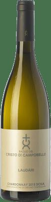 19,95 € Free Shipping | White wine Cristo di Campobello Laudàri I.G.T. Terre Siciliane Sicily Italy Chardonnay Bottle 75 cl