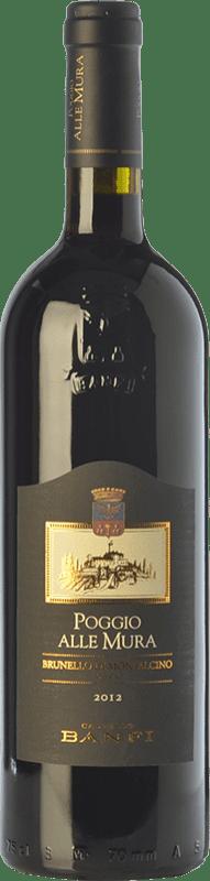 52,95 € Free Shipping | Red wine Castello Banfi Poggio alle Mura D.O.C.G. Brunello di Montalcino Tuscany Italy Sangiovese Bottle 75 cl