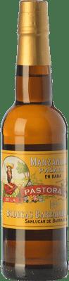 19,95 € Kostenloser Versand | Verstärkter Wein Barbadillo Manzanilla Pasada Pastora D.O. Manzanilla-Sanlúcar de Barrameda Andalusien Spanien Palomino Fino Flasche 75 cl