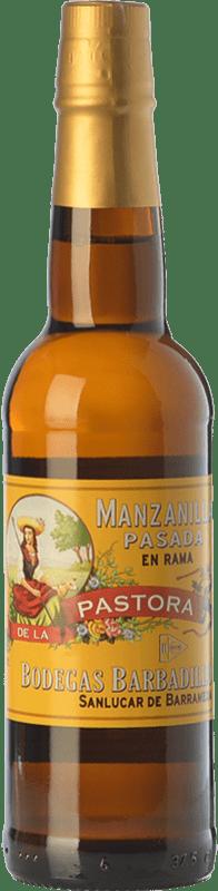 28,95 € Free Shipping | Fortified wine Barbadillo Manzanilla Pasada Pastora D.O. Manzanilla-Sanlúcar de Barrameda Andalusia Spain Palomino Fino Bottle 75 cl