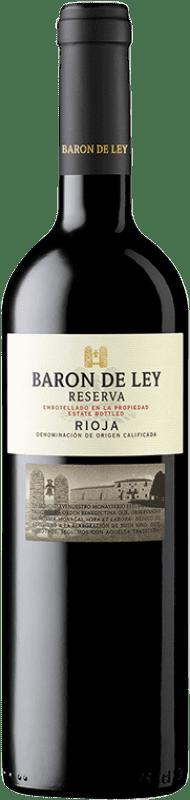 28,95 € Free Shipping | Red wine Barón de Ley Reserva D.O.Ca. Rioja The Rioja Spain Tempranillo Magnum Bottle 1,5 L