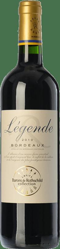 7,95 € Envío gratis | Vino tinto Barons de Rothschild Collection Légende Joven A.O.C. Bordeaux Burdeos Francia Merlot, Cabernet Sauvignon, Cabernet Franc Botella 75 cl