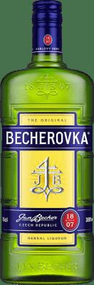 19,95 € Free Shipping | Herbal liqueur Becherovka Czech Republic Missile Bottle 1 L