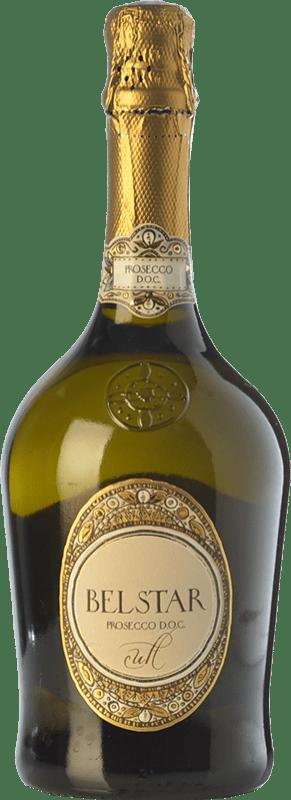 9,95 € Free Shipping | White sparkling Bel Star Cult D.O.C. Prosecco Veneto Italy Glera Bottle 75 cl