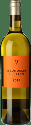 39,95 € Envío gratis | Vino blanco Belondrade Lurton Crianza D.O. Rueda Castilla y León España Verdejo Botella 75 cl