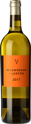 36,95 € Free Shipping | White wine Belondrade Lurton Crianza D.O. Rueda Castilla y León Spain Verdejo Bottle 75 cl | Thousands of wine lovers trust us to get the best price guarantee, free shipping always and hassle-free shopping and returns.