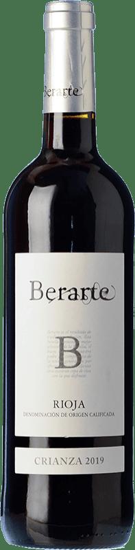 9,95 € Envío gratis   Vino tinto Berarte Crianza D.O.Ca. Rioja La Rioja España Tempranillo Botella 75 cl