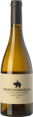19,95 € Free Shipping | White wine Bernabeleva Manchomuelas Crianza D.O. Vinos de Madrid Madrid's community Spain Viura, Albillo, Malvar Bottle 75 cl