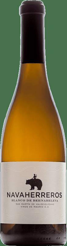 14,95 € Free Shipping | White wine Bernabeleva Navaherreros Crianza D.O. Vinos de Madrid Madrid's community Spain Albillo, Macabeo Bottle 75 cl