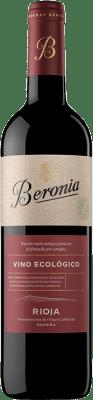 12,95 € Envoi gratuit | Vin rouge Beronia Ecológico Joven D.O.Ca. Rioja La Rioja Espagne Tempranillo Bouteille 75 cl
