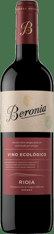 9,95 € Envío gratis | Vino tinto Beronia Ecológico Joven D.O.Ca. Rioja La Rioja España Tempranillo Botella 75 cl
