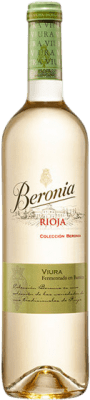 9,95 € Free Shipping | White wine Beronia Fermentado en Barrica Crianza D.O.Ca. Rioja The Rioja Spain Viura Bottle 75 cl | Thousands of wine lovers trust us to get the best price guarantee, free shipping always and hassle-free shopping and returns.
