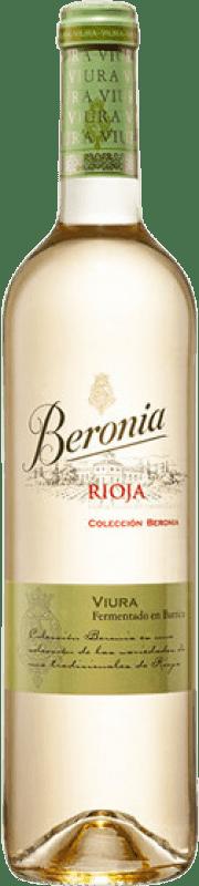 14,95 € Free Shipping | White wine Beronia Fermentado en Barrica Crianza D.O.Ca. Rioja The Rioja Spain Viura Bottle 75 cl