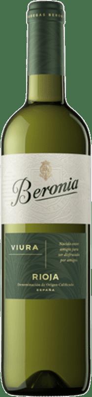 7,95 € Envío gratis | Vino blanco Beronia D.O.Ca. Rioja La Rioja España Viura Botella 75 cl