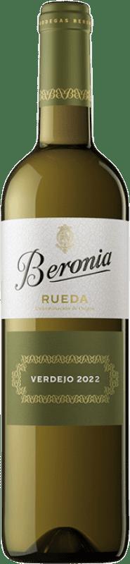 8,95 € Envío gratis | Vino blanco Beronia D.O. Rueda Castilla y León España Verdejo Botella 75 cl